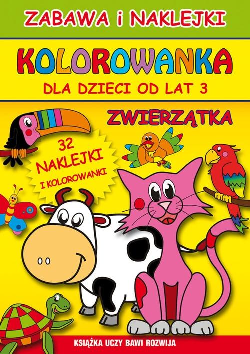 Zwierzątka Zabawa i naklejki Kolorowanka Guzowska Beata, Superson Mateusz