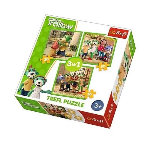 Puzzle Zabawy Treflików 3w1 (34838)