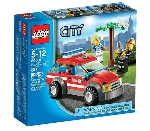Lego City: Samochód komendanta straży pożarnej (60001)
