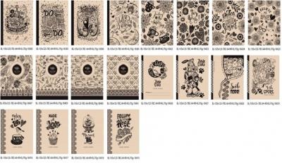Notatnik ozdobny 105x125 64 stron kratka mix wzorów