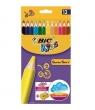 Kredki Super Soft 12 kolorów BIC