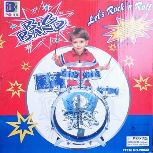 Duża 6 bębnowa perkusja niebieska