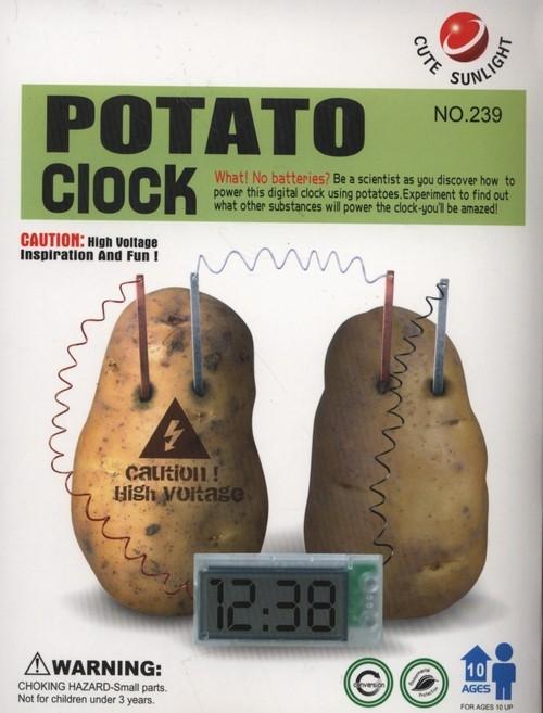 Zestaw kreatywny eko zegar z ziemniaka