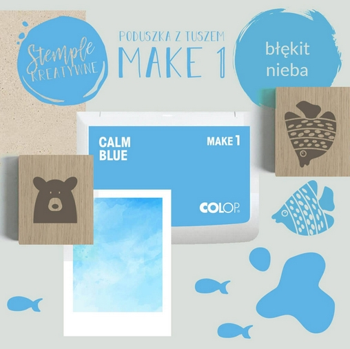 Poduszka do stempli Make 1 - błękit nieba (155109)