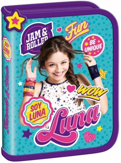 Piórnik dwuklapkowy bez wyposażenia Soy Luna