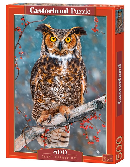 Puzzle 500: Great Horned Owl