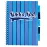 Kołozeszyt A4/100k Pukka Pad Book Vogue - niebieski (8538-VOG)