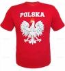 Koszulka z nadrukiem bawełna - czerwona