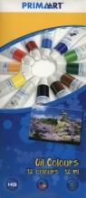 Farby olejne Prima Art 12 kolorów 12 ml w tubie (322825)