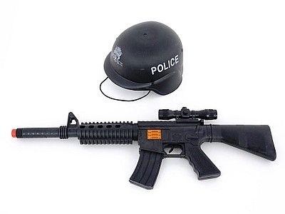 Zestaw policyjny Adar karabin i hełm (517387)