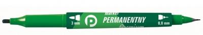 Marker perman. ziel. 2 końcówki (12szt.) KM501-Z2