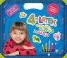 4-latek uczy się koloruje i nakleja