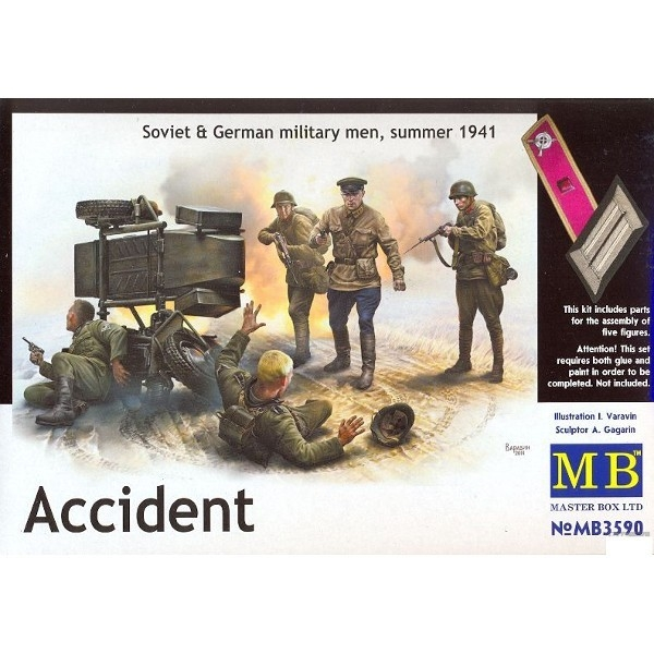MB Accident Soviet&German Military Men