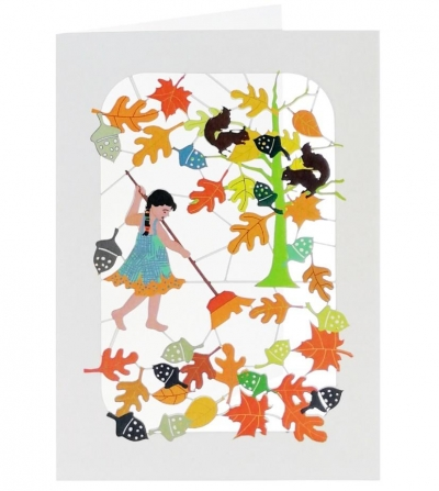 Karnet PM401 wycinany + koperta Jesień