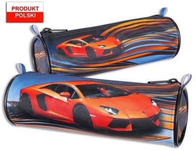 Piórnik szkolny WAR-1038 - Pomarańczowy Lamborghini