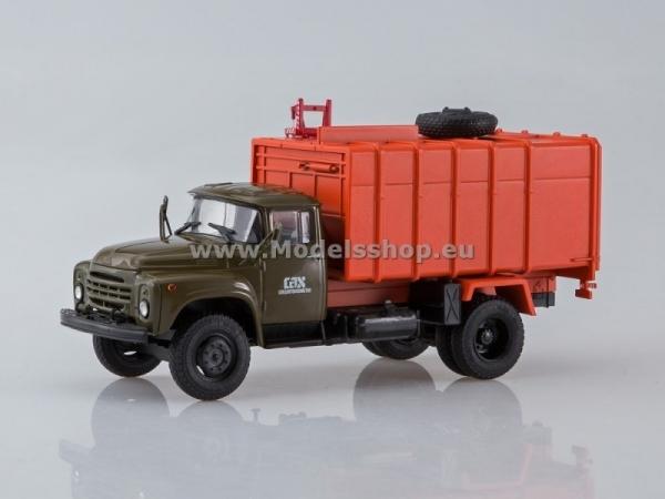 Garbage Truck KO-413 (ZIL-130) (khaki/orange) (AI1121)