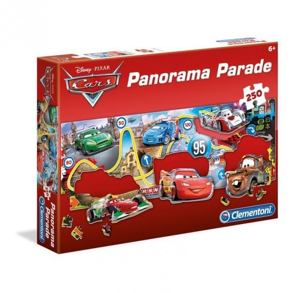 Puzzle Panorama Auta 250