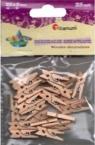 Dekoracyjne klamerki drewniane 25mm 25szt.kolor drewna(EB108)