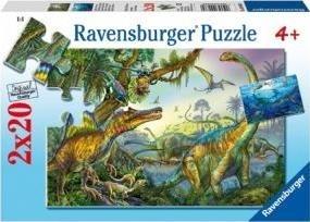 Puzzle 2X20 Prehistoryczne potwory RAP090389