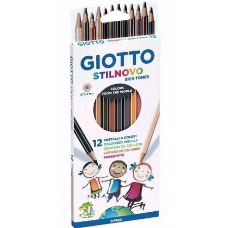 Kredki Giotto Stilnovo, 12 sztuk - pastelowe Skin Tones