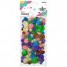 Pompony akrylowe, 68 szt. - pastelowe (282918)