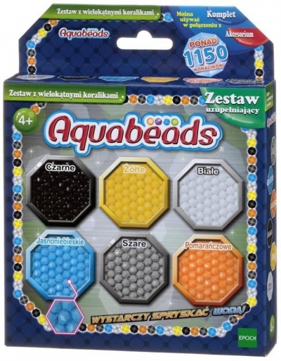 Aquabeads Zestaw z wielokątnymi koralikami