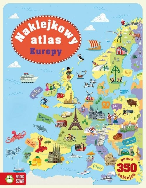 Naklejkowy atlas Europy Melmoth Jonathan