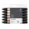 Zestaw pisaków Promarker Winsor & Newton - Skin Tones, 6 kolorów (0290114)