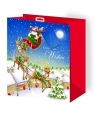 Torba Latający Mikołaj z brokatem rozmiar M