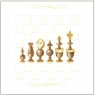 Karnet szachy drewniane 16x16 + koperta