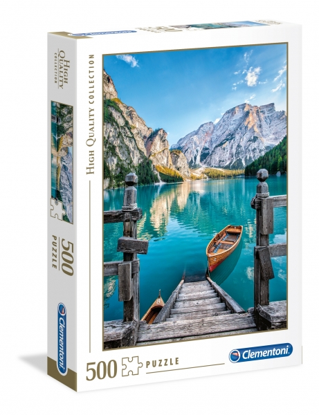 Puzzle High Quality Collection 500: Braies lake (35039)