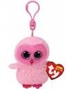 Maskotka brelok Beanie Boos Twiggy - Różowa Sowa (TY 35039)