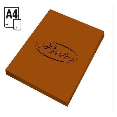 Papier kolorowy Protos A4/50k 160g/m2 - brązowy (OUTLET - USZKODZENIE)