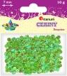 Cekiny okrągłe perłowo-tęczowe zielone jabłuszko 7mm 10g.(CO7/83)