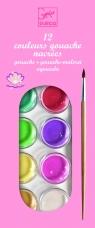 Farby akwarelowo - akrylowe 12 perłowych kolorów (DJ09739)
