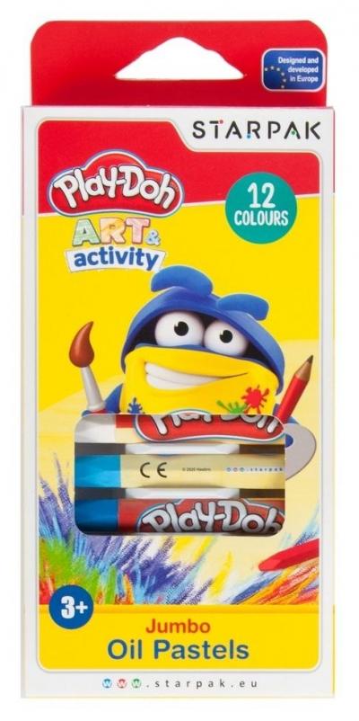 Pastele olejne Jumbo 12 kolorów Play-Doh