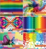 Blok techniczny kolorowy Interdruk A4 10 kartek