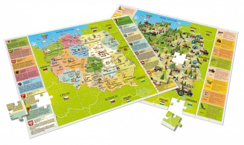 GeoPuzzle - Moja piękna Polska, 108 elementów (P42043)
