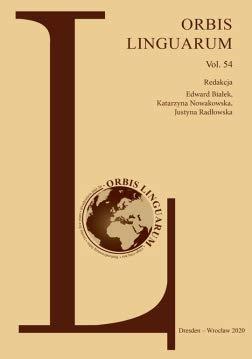 Orbis Linguarum, vol. 54 Opracowanie zbiorowe