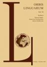 Orbis Linguarum, vol. 54