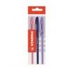 Długopis stabilo Re-Liner niebieski różowy fioletowy 3 sztuki E-868-3F