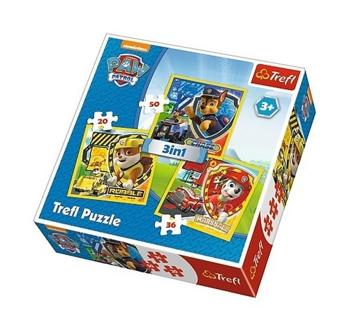 Puzzle: Psi Patrol - Chase, Marshal, Rubble 3w1