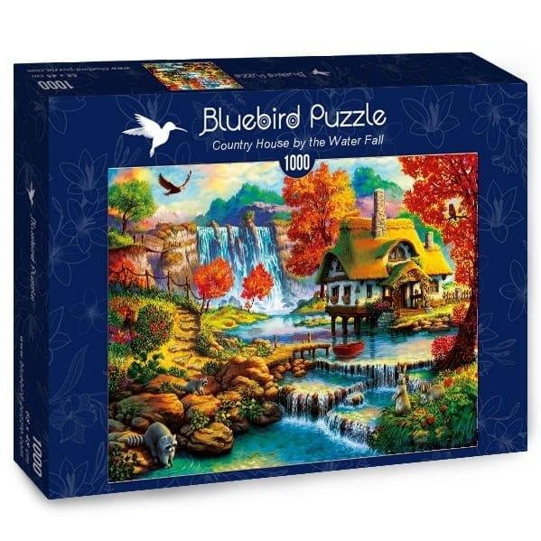 Puzzle 1000: Letnia chatka z wodospadem w tle (70339)