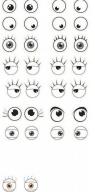 Naklejki 3D Oczy MAILDOR