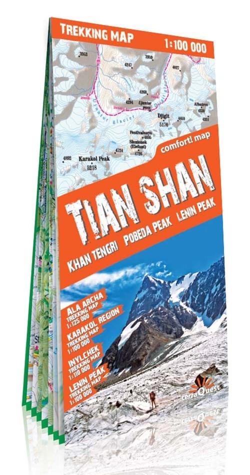 Tien Shan Tian Shan mapa trekkingowa