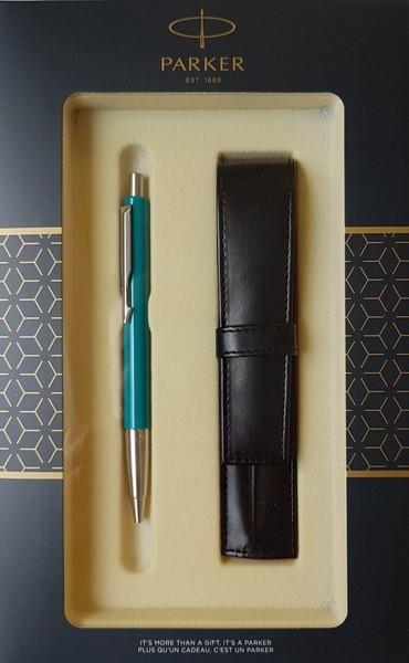Zestaw upominkowy Parker: Długopis Parker Vector Turkusowy CT + Etui Pagani (S0825390)