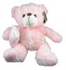 Miś Happy różowy 27cm siedzący  (2939)