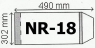 Okładka na podr A4 regulowana nr 18 (50szt) NARNIA