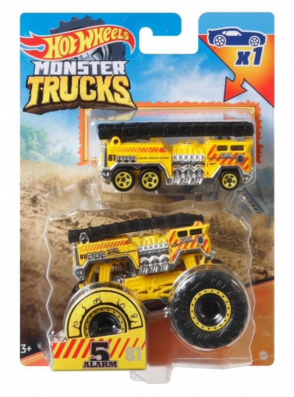 Zestaw pojazdów Monster Truck 2-pak Alarm żółty (GRH81/GWW03)