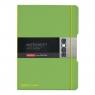 Notatnik my.book Flex A4/2x40k linia, kratka - zielony (11361458)